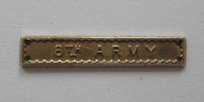 FULL SIZE - WWII.  AFRICA MEDAL BAR / CLASP ( 8th. ARMY ) - BRASS.