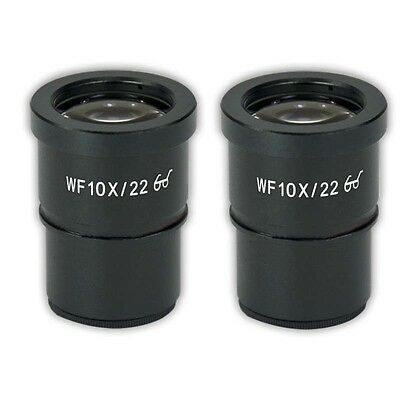 2 Pieces WF10X/22 Eyepiece f/ Stereo Microscope High Eye-point Mount 30mm 30.5mm