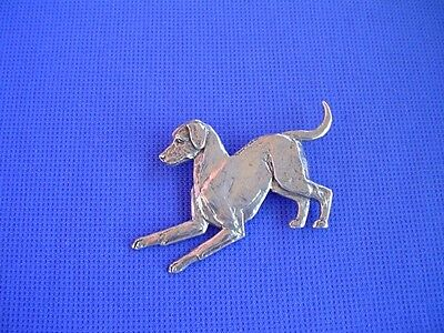 Rhodesian Ridgeback Pin PLAYING #60D  Pewter Hound dog jewelry b Cindy A. Conter