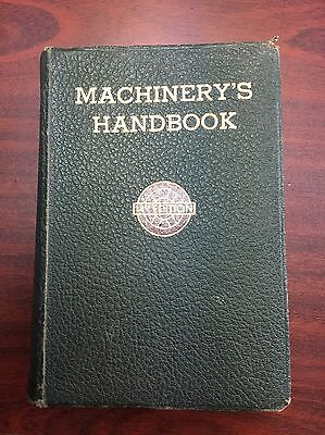 Vintage (1953) Machinery's Handbook (14th Edition) Softcover (1911-Pages)