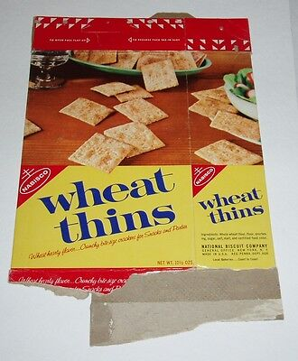 1962 Nabisco Wheat Thins Cracker Box vintage advertising