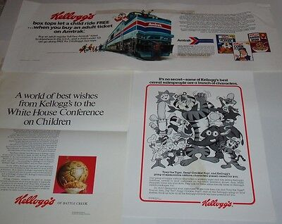 1970's KELLOGGS Cereal Ad Proofs cereal box lot of 40+