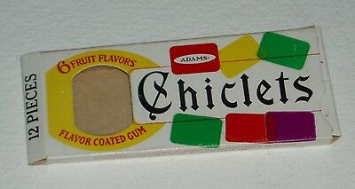1960's Chiclets Fruit Flavor Chewing Gum Candy Box