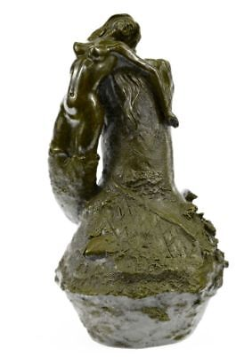 HandcraftedVintage Style Mermaid Bronze Ocean Fish Home Collectibles Girl SW