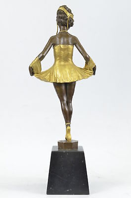 Bruno Zach Hommage Bronze  Sculpture Little Dancer Ballerina Signed SW