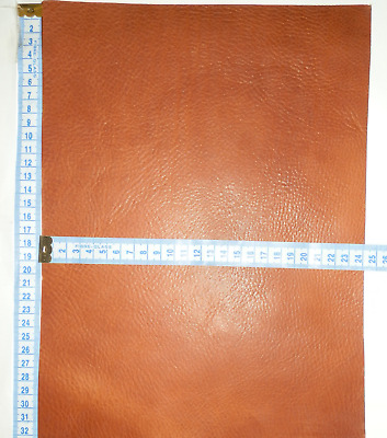 3.5Mm Thick Grainy Italian Veg Tan Leather Offcuts  Brown - Tan