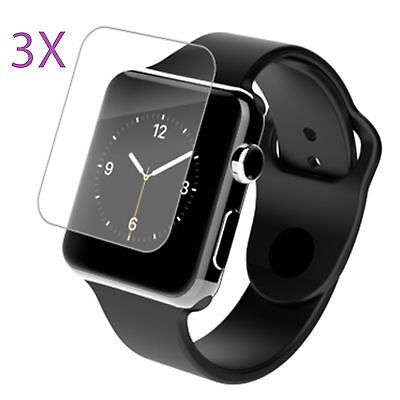 3X Family Pack Premium High Definition Hd Screen Protector For Apple Watch 38Mm
