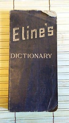 1922 ELINE'S VEST POCKET DICTIONARY - Famous Chocolate Promotion Gift