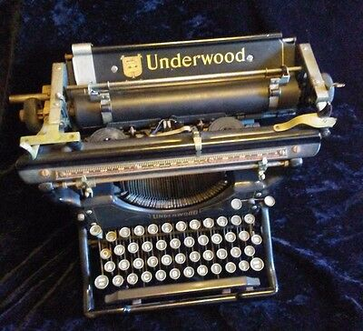 1926 Antique UNDERWOOD Typewriter #5 in Great Condition FREE SHIPPING