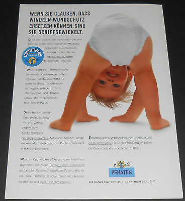 1993 vintage ad - PENATEN BABY CREAM - GERMANY - 1-PAGE PRINT ADVERT diapers
