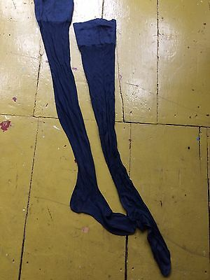 True Vintage 1920s Flapper Gatsby Stockings Pure Silk With Back Seam