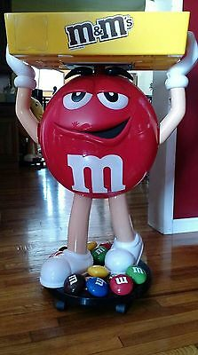 M&m  Rare Red Character Store Display 42 In  Whit