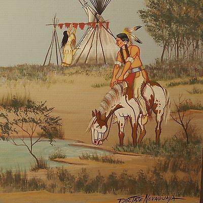 Doc Tate Nevaquaya Original Painting / Comanche