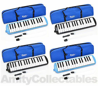 1 x MELODICA - 32 Keys with Pipe & Mouthpiece Plastic Keyboard [Choose Colour!]