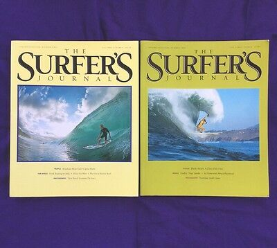 Lot of 2 The Surfer's Journal Magazine 19.1 and 19.2