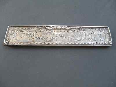 Antique / Silver Comb Cover MARKED 800  very ORNATE dresser / vanity DECOR