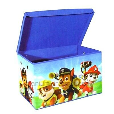 Children's kids Paw Patrol Boys Girls Blue Toy Book Storage ottoman Box Blue