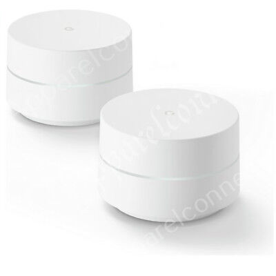 Google Whole Home WiFi System Wireless Internet Router Signal Booster -Dual Pack