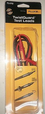 NEW Fluke TL175 TwistGuard Double Insulated Silicone Mulit Meter Test Lead Set