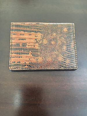 New Tom Ford Mens Lizard Bi Fold Card Holder Wallet 100% Authentic