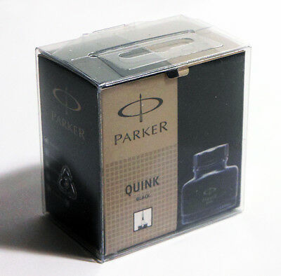 Parker QUINK Black Ink - 3001100 - NEW in Retail Box