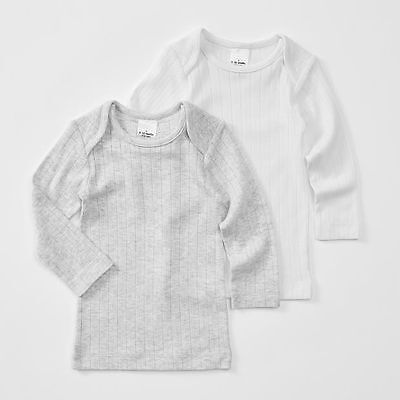 NEW Baby 2 Pack Long Sleeve Thermal Organic Top