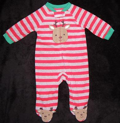 ee8f37656 CARTERS JUST ONE You Footed Sleeper Fleece Pajamas 6 months Holiday ...