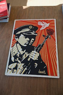 """Shepard Fairey Obey Giant """" Chinese Soldiers """"  Signed 2006"""