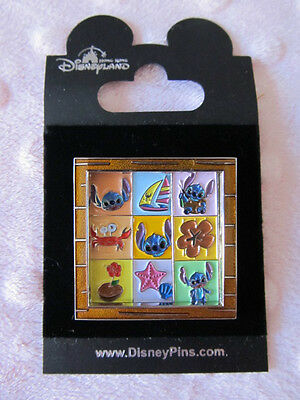 Disney Pin - HKDL Stitch Square Slider - New