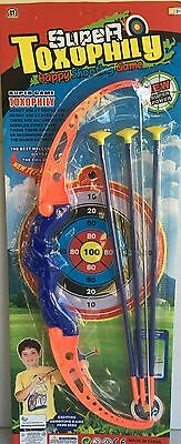 Toy Archery Bow And Arrow Set With Target Cosplay Kids Outdoor Fun Play NEW