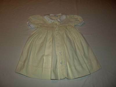 Baby Girls Jelly N Jam Yellow White Seersucker Smocked Dress Size 24 Months