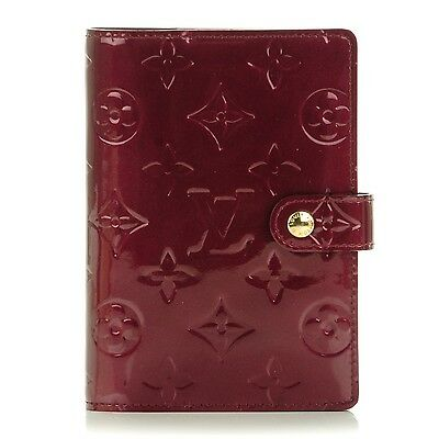 LOUIS VUITTON Vernis Small Ring Agenda Cover Rouge Fauviste