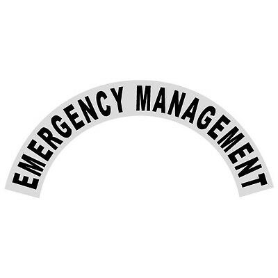 Emergency Management Black Helmet Crescent Reflective Decal Sticker