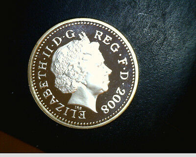 2008 UK, 1 pound, Unc  High  Grade Proof, Slv  (UK-108)