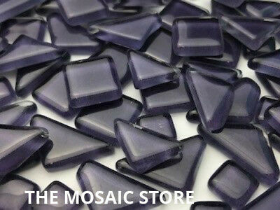 Dark Purple Crystal Glass Melts - Mosaic Art Craft Tiles Supplies