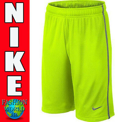 Boy's Nike Monster Mesh Shorts Size Medium Volt Yellow, Gray 589632 710 NWT