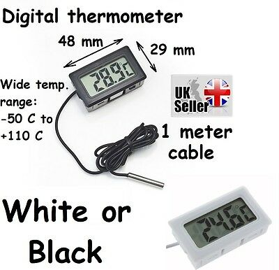 Digital Display Fridge Freezer Probe Thermometer Temperature Gauge Meter Monitor