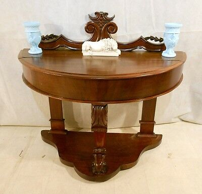 ANTIQUE VICTORIAN MAHOGANY SIDE TABLE HALL TABLE CONSOLE TABLE c1860-80 END TABL