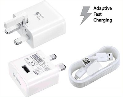 Uk Fast Charger Plug & Data Cable Lead For Samsung Galaxy S7 S6 Edge Note 4 5