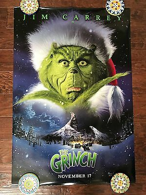 How The Grinch Stole Christmas 27X40 Ds Movie Poster One Sheet New Authentic