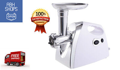 2800W Electric Meat Grinder Sausage Stuffer Steel Maker Stainless Cutter Home