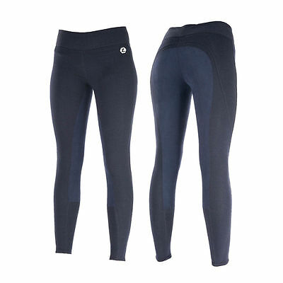 New! Horze Ladies Pull On Full Seat Riding Tights / Jodhpurs Navy Size 8 - 18