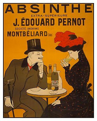 Historic Vintage Advertisement Reprint Art Picture: ABSINTHE Liquor Spirits Bar