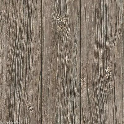 Wallpaper Muriva - Luxury Grained Realistic Old Wood Panel - Brown - J024-17