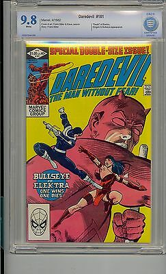Daredevil #181 Cbcs 9.8 White Pages Marvel Death Elektra Miller Not Cgc Pgx By