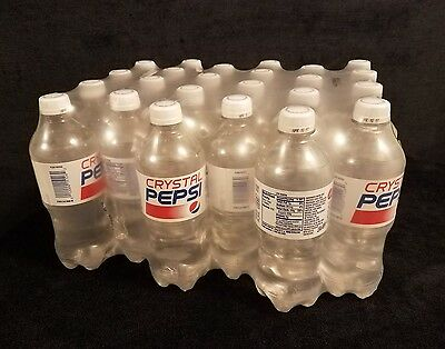 Crystal Pepsi Sealed 24 Pack Of 20 Ounce Plastic Bottles April 10 2017 Case