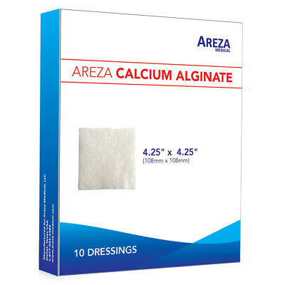 "Calcium Alginate 4.25"" x 4.25"" Sterile Box of 10"