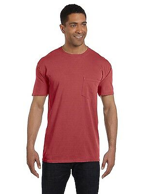 COMFORT COLORS Mens Soft Cotton Pigment Dyed POCKET Short Sleeve T-Shirt S-3XL
