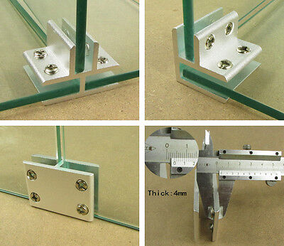 Glass Clamp Bracket Holder for Window Handrail Glass Aluminium Clamps 2-4 ways