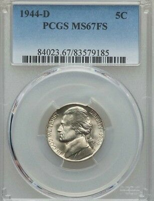 1944-D 5C Jefferson Nickel PCGS MS67FS